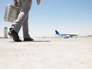 Man walking to plane