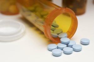 spilled prescription pills